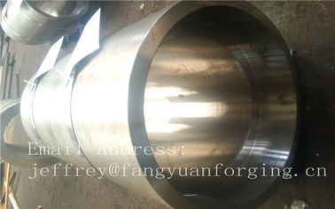 Chiny S S Forged Steel Products / Forged Ring Flange Cylinder With Machining fabryka